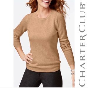 Charter Club Cashmere Crew Neck Sweater Sz Large